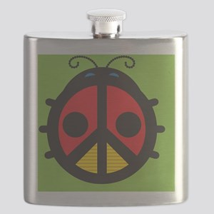 Ladybug Peace Sign Flask