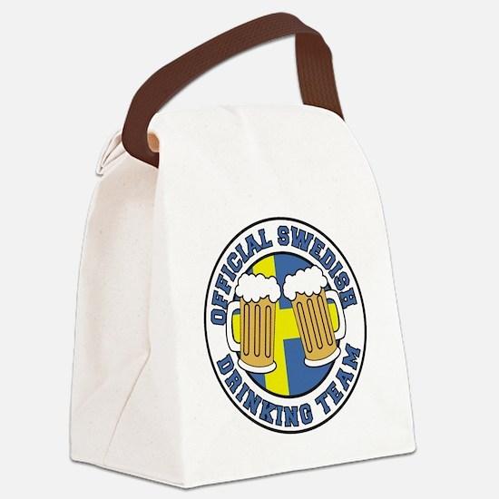 Swedish Drinking Team Pint Glass Canvas Lunch Bag