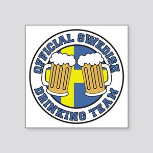 "Swedish Drinking Team Pint  Square Sticker 3"" x 3"""
