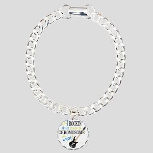 rockin chromosome 2 Charm Bracelet, One Charm