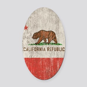 Vintage California Republic Oval Car Magnet