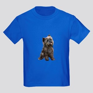 Brindle Cairn (#14) Kids Dark T-Shirt