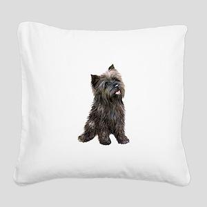 Brindle Cairn (#14) Square Canvas Pillow