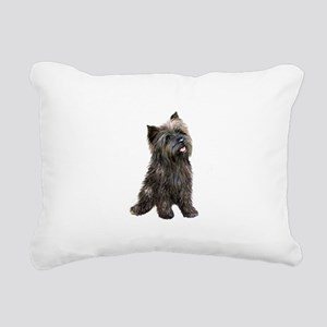 Brindle Cairn (#14) Rectangular Canvas Pillow