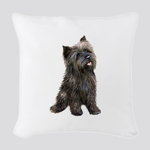 Brindle Cairn (#14) Woven Throw Pillow