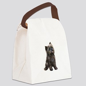 Brindle Cairn (#14) Canvas Lunch Bag