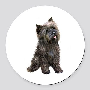 Brindle Cairn (#14) Round Car Magnet