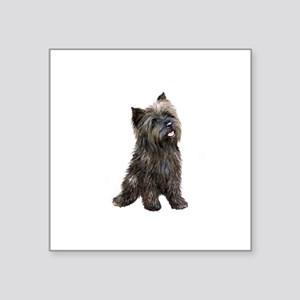 "Brindle Cairn (#14) Square Sticker 3"" x 3"""