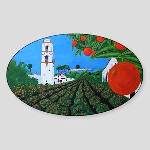 Parade of Oranges Sticker (Oval)