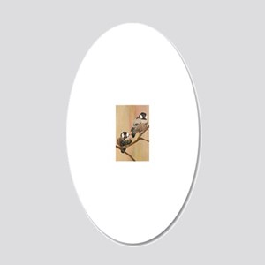Shanghai Birds Duo 20x12 Oval Wall Decal