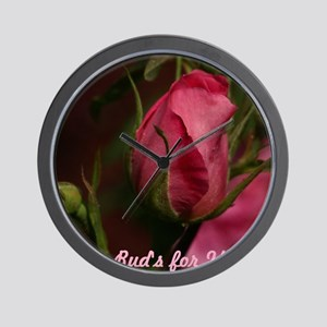 Pink Bud for You Wall Clock