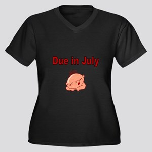 Due In July -Baby Face Plus Size T-Shirt