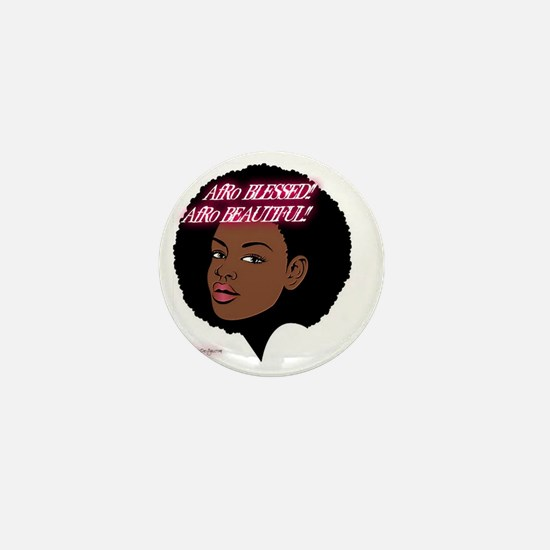 AfroBlessed....AfroBeautiful!! Mini Button