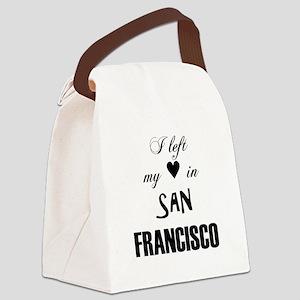 SF_12x12_LeftHeart_Design2_Black Canvas Lunch Bag