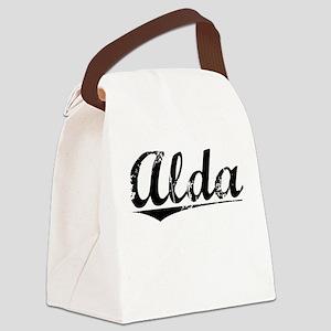 Alda, Vintage Canvas Lunch Bag