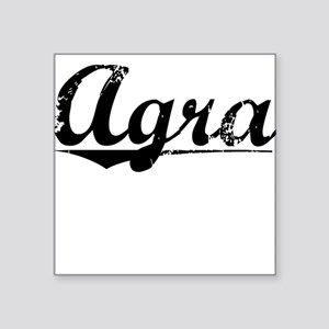 "Agra, Vintage Square Sticker 3"" x 3"""