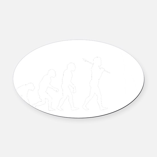 Evolved To Ball - Basketball Oval Car Magnet