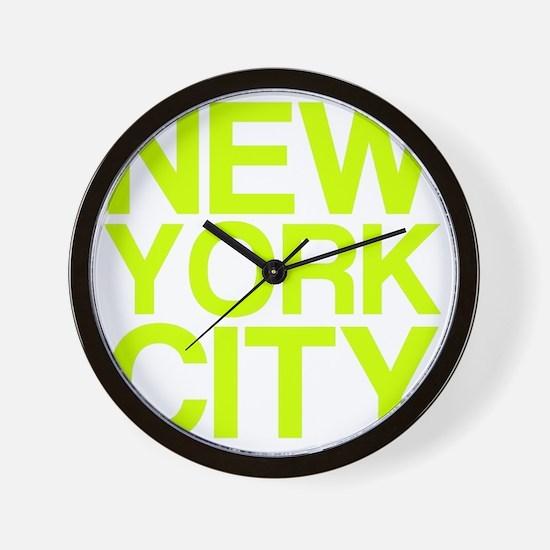 NEW YORK CITY, Fluorescent, Wall Clock