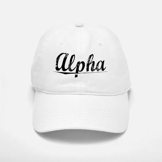 Alpha, Vintage Baseball Baseball Cap