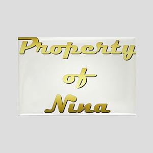 Property Of Nina Female Rectangle Magnet