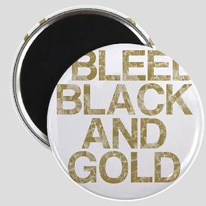 I Bleed Black and Gold, Vintage, Magnet