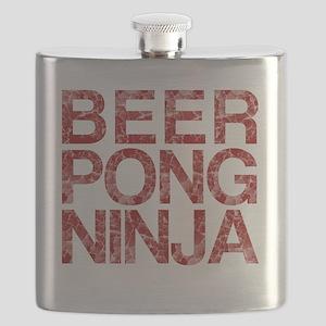 Beer Pong Ninja, Red, Flask