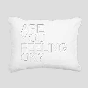Are You OK? Funny, Blurr Rectangular Canvas Pillow