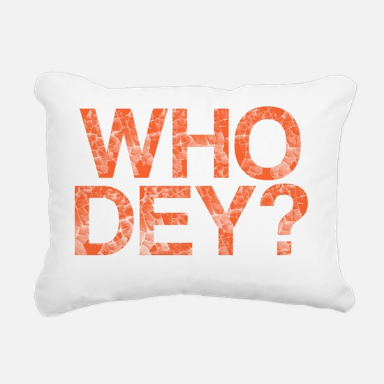 WHO DEY?, Vintage, Rectangular Canvas Pillow