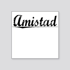 "Amistad, Vintage Square Sticker 3"" x 3"""