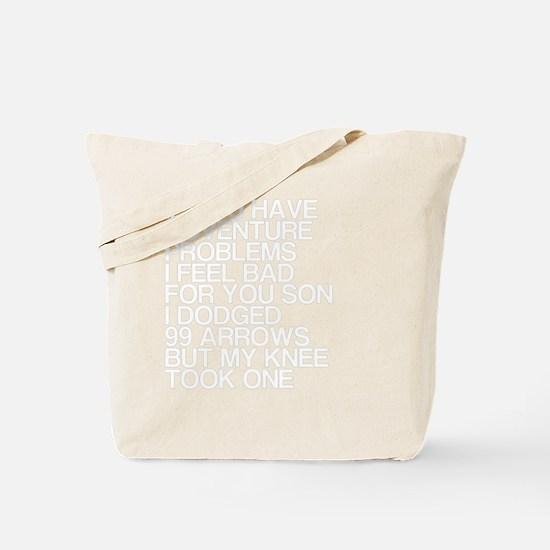 100 Problems, Knee Arrow Rhyme Tote Bag