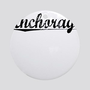 Anchorage, Vintage Round Ornament