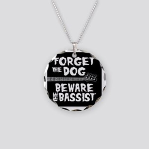 Beware the Bassist Necklace Circle Charm
