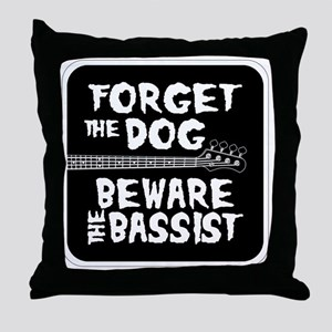 Beware the Bassist Throw Pillow