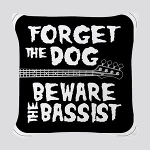 Beware the Bassist Woven Throw Pillow
