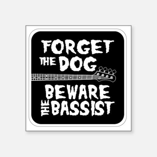 """Beware the Bassist Square Sticker 3"""" x 3"""""""