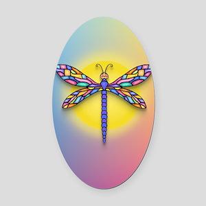 Dragonfly1 - Sun Oval Car Magnet