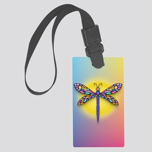 Dragonfly1 - Sun Large Luggage Tag