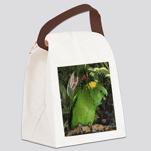 Yellow Nape Amazon Parrot Canvas Lunch Bag