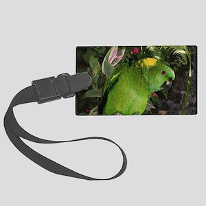 Yellow Nape Amazon Parrot Large Luggage Tag