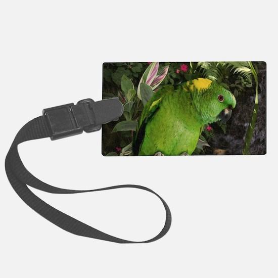 Yellow Nape Amazon Parrot Luggage Tag
