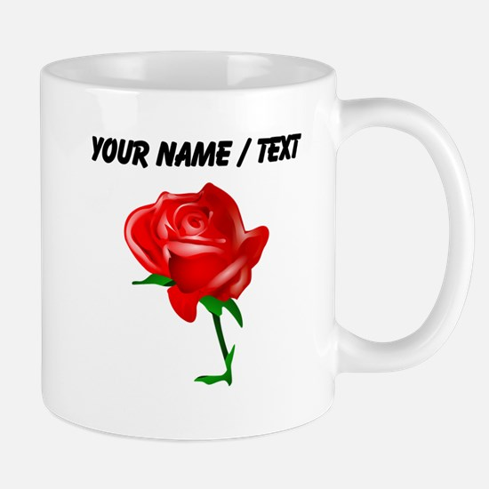 Custom Red Rose Mugs
