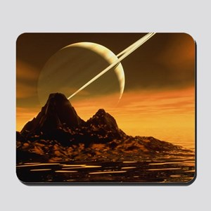 Computer artwork of Titan's surface and  Mousepad
