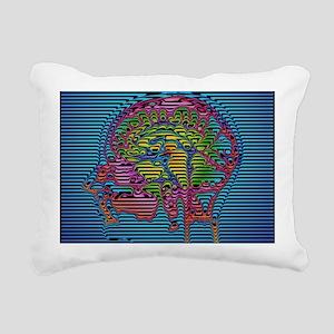 Computer-enhanced MRI br Rectangular Canvas Pillow