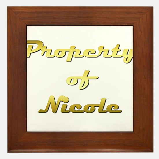 Property Of Nicole Female Framed Tile