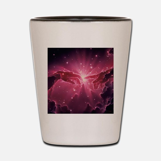 Conceptual artwork of a star birth in a Shot Glass