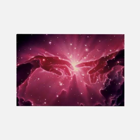 Conceptual artwork of a star birt Rectangle Magnet