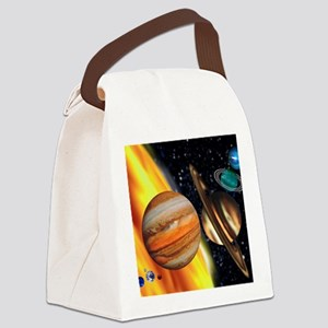 Computer artwork showing relative Canvas Lunch Bag