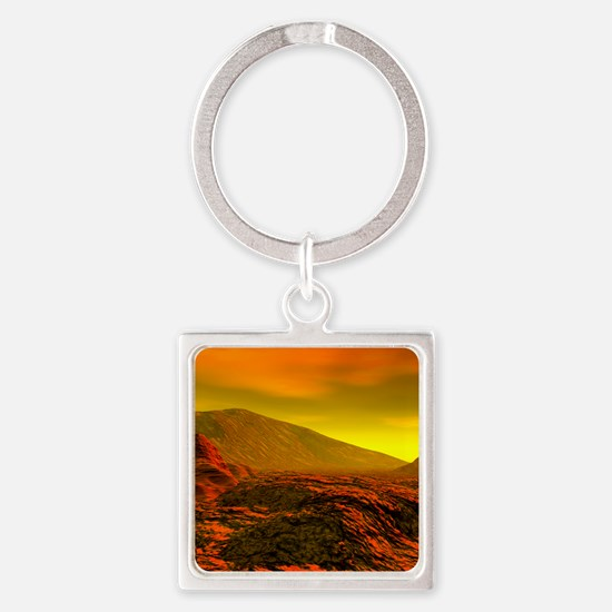 Computer artwork of the surface of Square Keychain