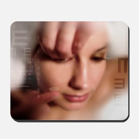 Contact lens use, conceptual image Mousepad