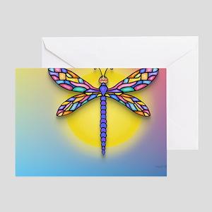 MP-Dragonfly1-SUN-gr1 Greeting Card